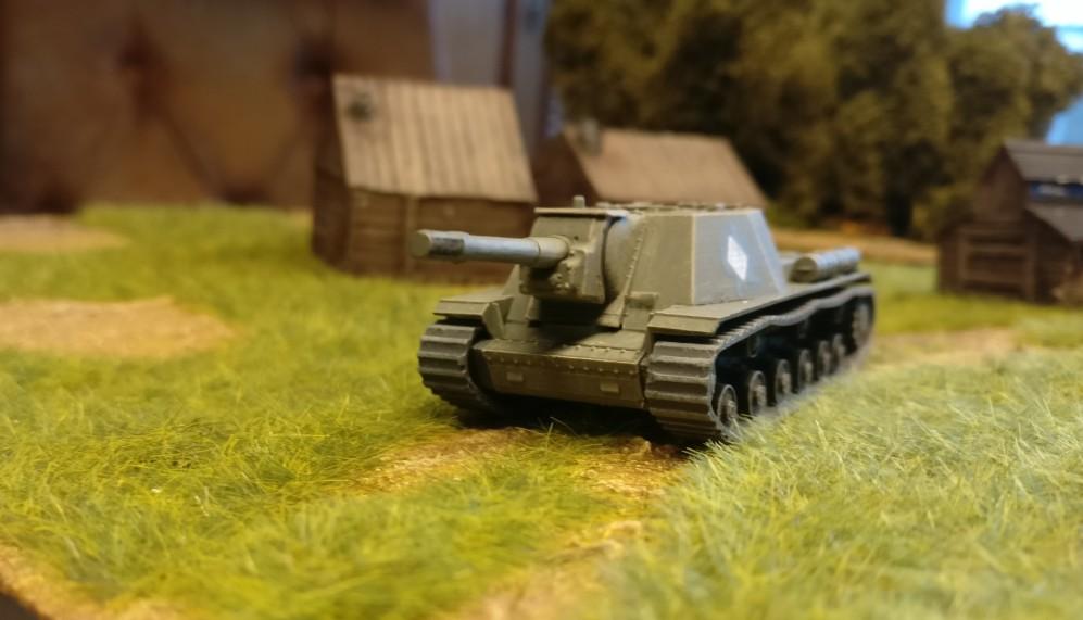 Die minimalistischen Bausätze des SU-152 von Zvezda ergeben für mich ein sehr befriedigendes Ergebnis nach Montage und Bemalung.