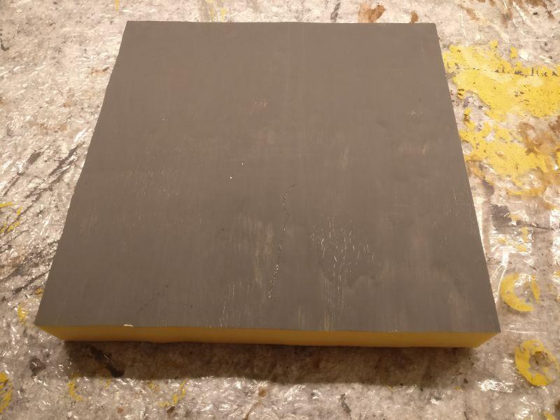 """Diese 30cm x 30cm Segment-Platte aus Styrodur ist mir Grundlage meiner Arbeiten für die Vietnam-Spielplatte für """"PBI"""" und """"Men of Company B"""""""
