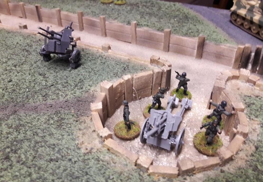 Die deutsche Artillerie war präsent - lieferte aber dank schlechter Würfelergebnisse nur mäßige Beiträge zum Sieg auf dem Aschaffenburger Behind-Omaha-Gedächtnis-Game