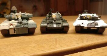 Atlas Panzermodelle T-55a, T-72 M1 und T-80 BV