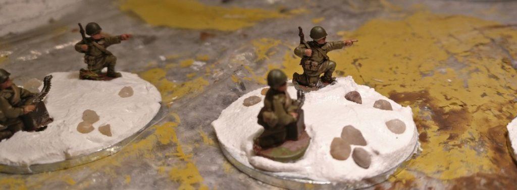 Unterlegscheiben und Strukturpaste geben die Basis für die Base der Maxim-MG -Teams