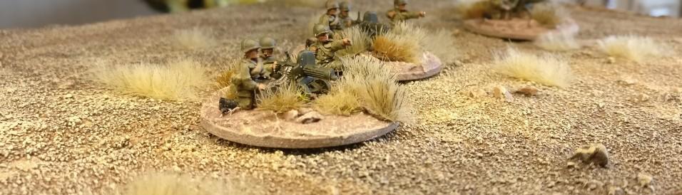 Auf der Base erkennt man bereits unschwer die Grasbüschel der früheren Basen im Flames of War Stil.