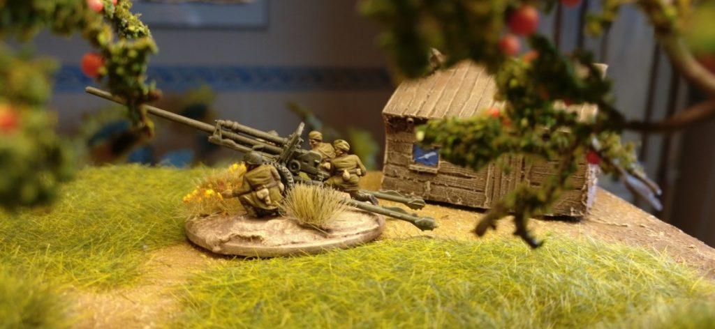 ZiS-2 57mm-Pak-Team #1 aus dem Set PSC 15mm WW2 Russian ZiS 2 Anti Tank Gun (WW2G15002)