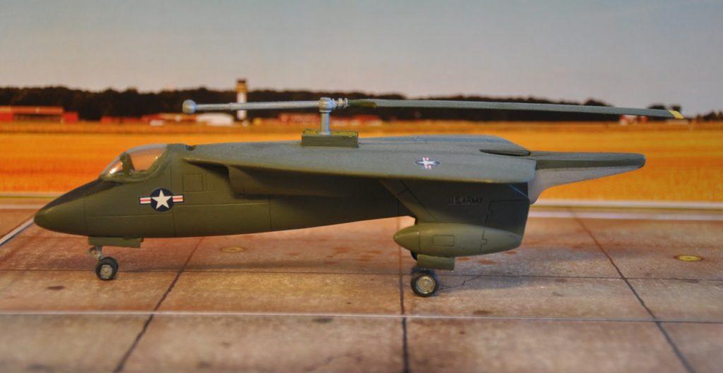 Arnigrand bietet einen Bausatz der Sikorsky XV-2 an, das sich gut für Einsteiger in den Bau von Resinmodellen eignet.