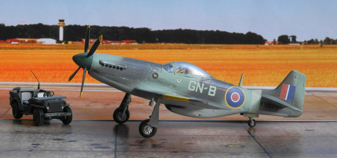 "Die P-51 ""Mustang"" GN-B flog im Sommer 1945 bei der 245. Staffel der Royal Australian Air Force in Italien."
