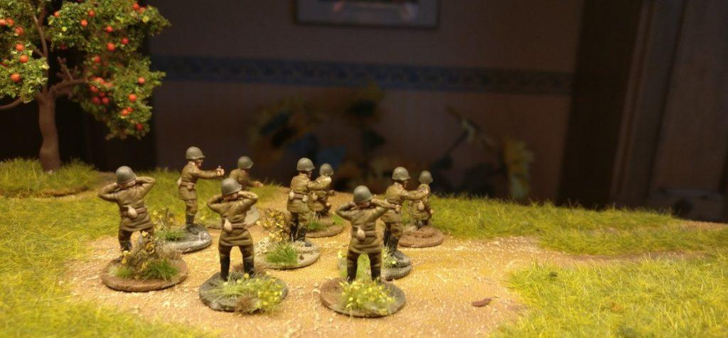 Fünf Bediener für die 26. Schützen-Division. Splitter & Granaten für Shturmigrad.