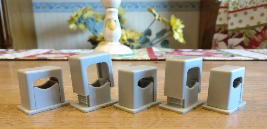 Auch zusammengesetzt können die Teile in Fabrikhalle oder außerhalb auf dem Werksgelände zu etwas Unübersichtlichkeit beitragen.