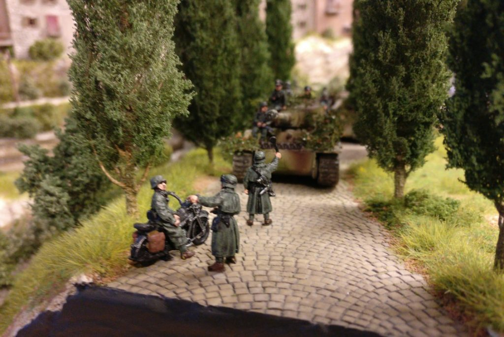 """Diorama """"Italien 1944"""" auf der Tactica"""
