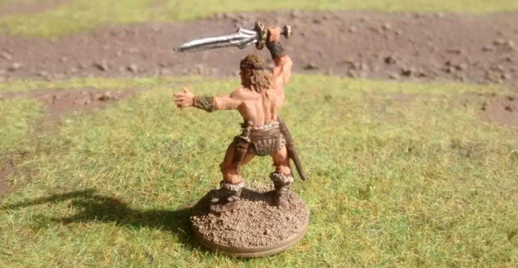"""Conan der Barbar, bereit für ein Spiel """"Ugah Ugah""""."""