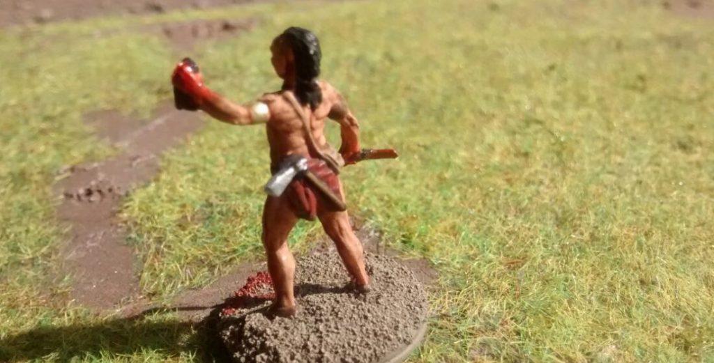 Einer der vorzeitlichen Krieger.