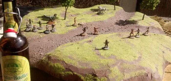 """Conan der Barbar und anderes Ostergetier auf der Ugah-Ugah-Spielplatte nebst einem leckeren """"Faust""""-Naturradler - oder das Leben an Festtagen im Spessart"""