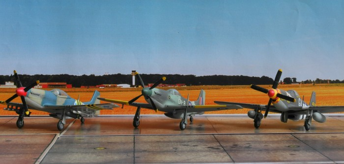"Internationalismus im Modell: Ein Schwarm North American P-51 ""Mustang""-Jäger"