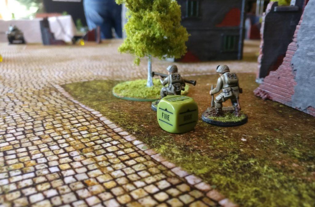Spieltisch Bolt Action auf der 1. Hammerzeit auf dem  6. Rhein Main Multiversum des Tabletop Club Rhein-Main e.V. in Nidderau