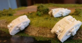 Mein neues Projekt: Dystopian Wars MKII Class Medium Tank