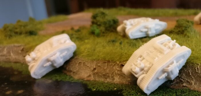 Mein neues Projekt: Dystopian Wars MKII Class Medium Tank