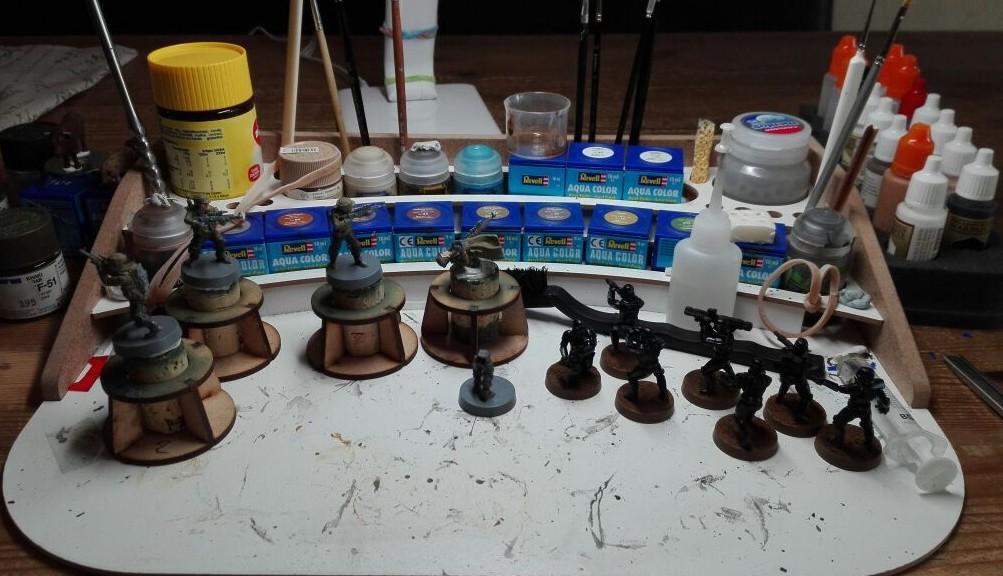 Star Wars Legion Painting. Halvarson hat sich ordentlich  Arbeit aufgelegt.