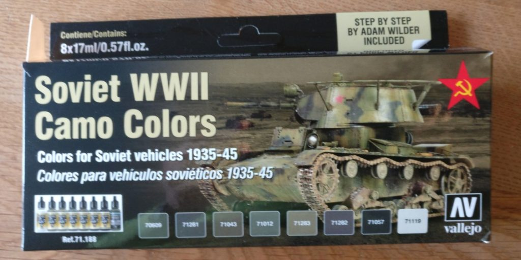 Vallejo 71.188 Soviet WWII Camo Colors for Soviet Vehicles 1935-45