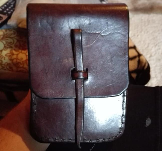 Die Kartentasche der Wehrmacht. Es ist ein sehr strapazierfähiges Leder und bestens erhaten.