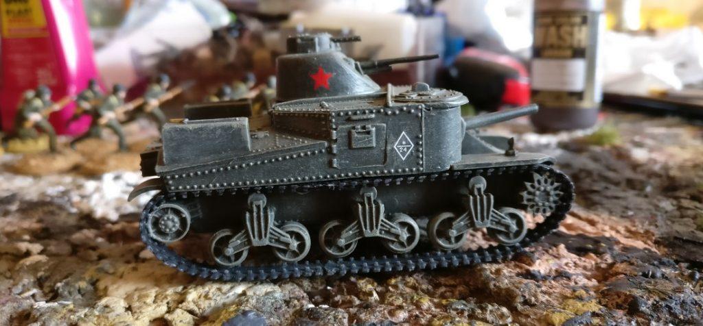 Der fertige Airfix M3 Lee Medium Tank 1:76 (A01317 ) als Lend Lease Tank