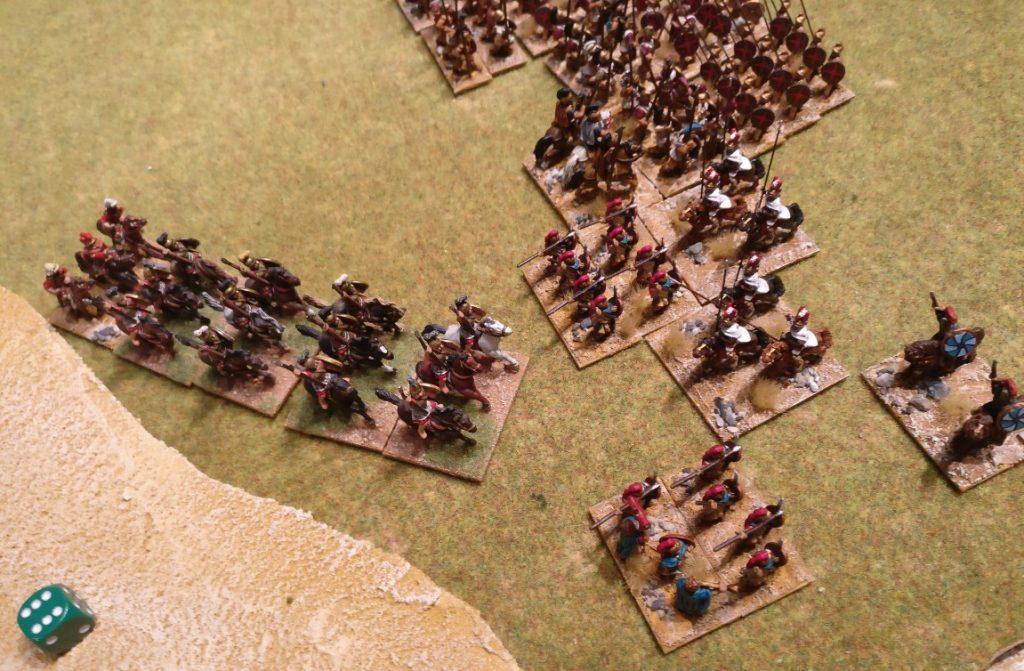 Rcht die Ritter mit den weißen Umhängen waren es, die meine Reitertruppe attackierten - und damit das Spiel für mich entschieden.