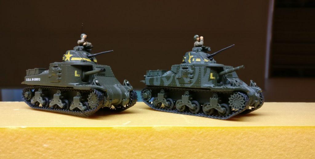 Unbemalt und unrasiert und fern der Heimat: Unimax Forces of Valor 95211 U.S. M3 Lee 1942 und Unimax Forces of Valor 85052 U.S. M3 Lee - Tunisia, 1942 im Einsatz beim 230. Unabhängigen Panzerregiment der Roten Armee bei Kursk.