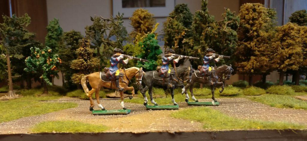 Gruppe Zinnfiguren #2 von Nürnberger Meisterzinn: 3 Reiter