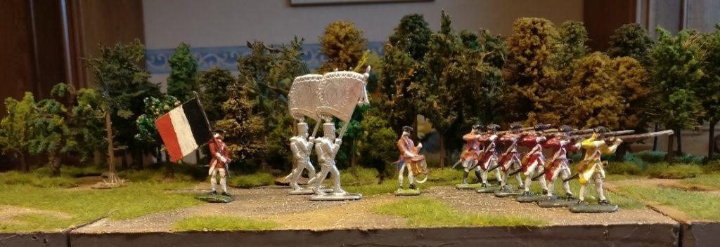 Gruppe Zinnfiguren #5 von Nürnberger Meisterzinn: 10 Grenadiere / Linieninfanterie