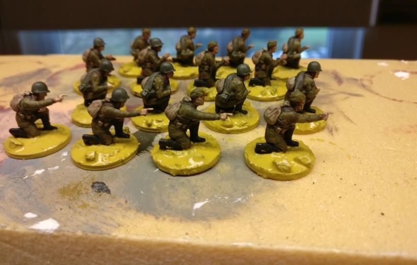Die Base ist auch grundiert bei den Jungs der Plastic Soldier Set WW2G20001 Russian 45mm Anti-Tank Gun