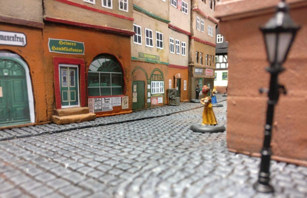 """Spieltisch """"Frankfurter Bierkrawall 1873"""" vom Tabletop Club Rhein Main"""