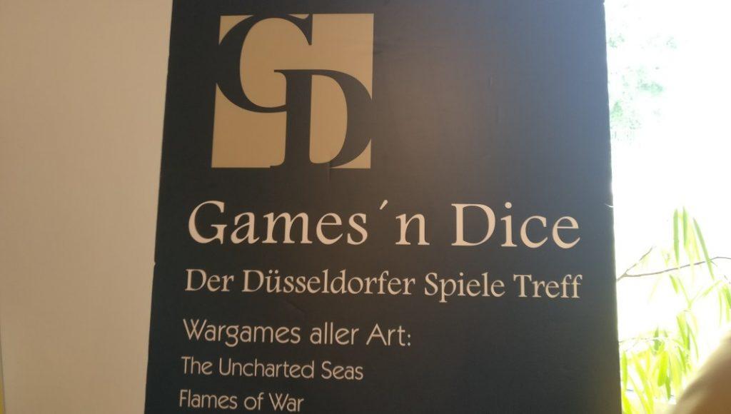 Hier ist der Quell unserer Freude: Der Stand des Games'n Dice, dem Düsseldorfer Spiele-Treff.