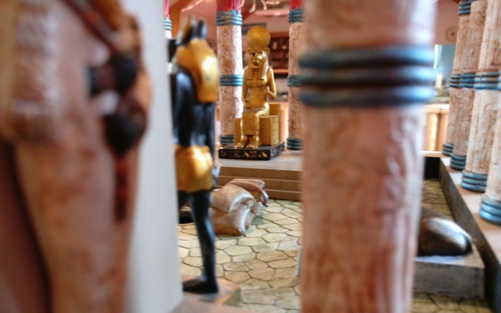 Ägyptische Gräberstimmung und Gottheiten auf dem Spieltisch Mamelucken, Gräber & Gelehrte vom THS / Team für historische Simulationen