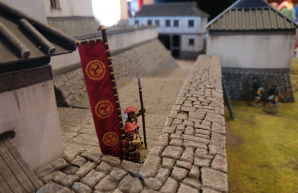 """Spieltisch """"Shogun"""" (Regelwerk This very Ground) der Hamburger Wargaming Club und der Kieler Tischrabauken"""