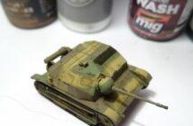 Mit Airgun & Knetmasse: Bemalung der TKS Tankette von First to Fight