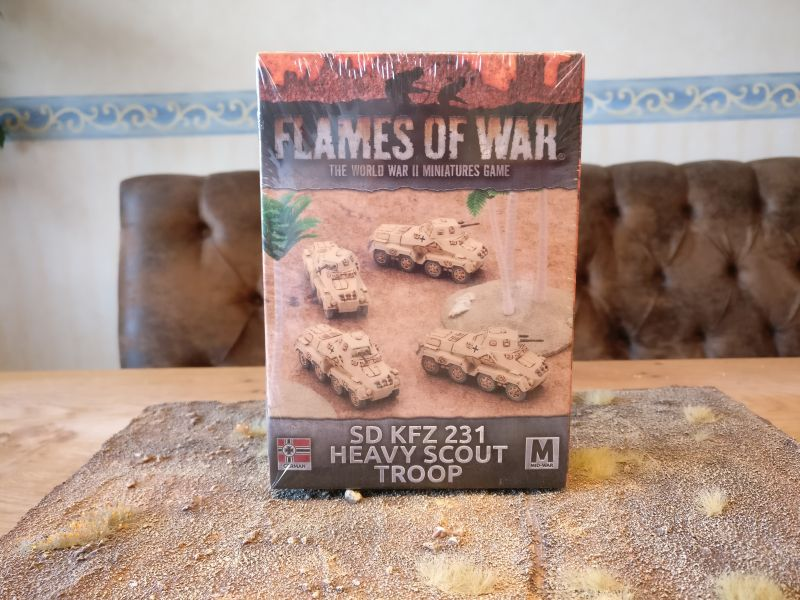Flames of War GBX100 Sd.Kfz. 231 Heavy Scout Troop