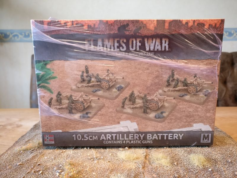 Flames of War VGBX91 10,5cm Artillery Battery