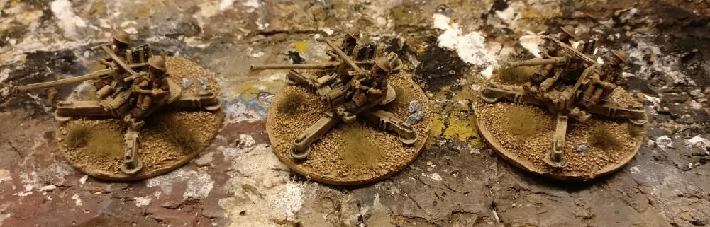 Ready to rumble! Die Flames of War 40mm Bofors Gun ist einsatzbereit !!!