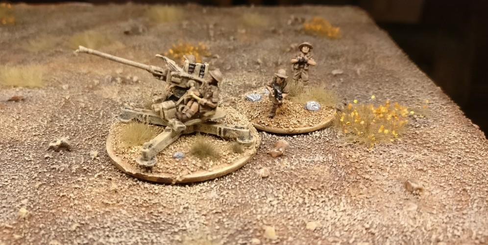 Geschütz #1 der Batterie 40mm Bofors Flak von Flames of War.