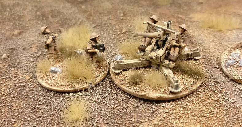 Geschütz #3 der Batterie 40mm Bofors Flak von Flames of War.