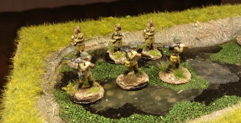 Drei LMG-Trupps für das 44. Schützenregiment.