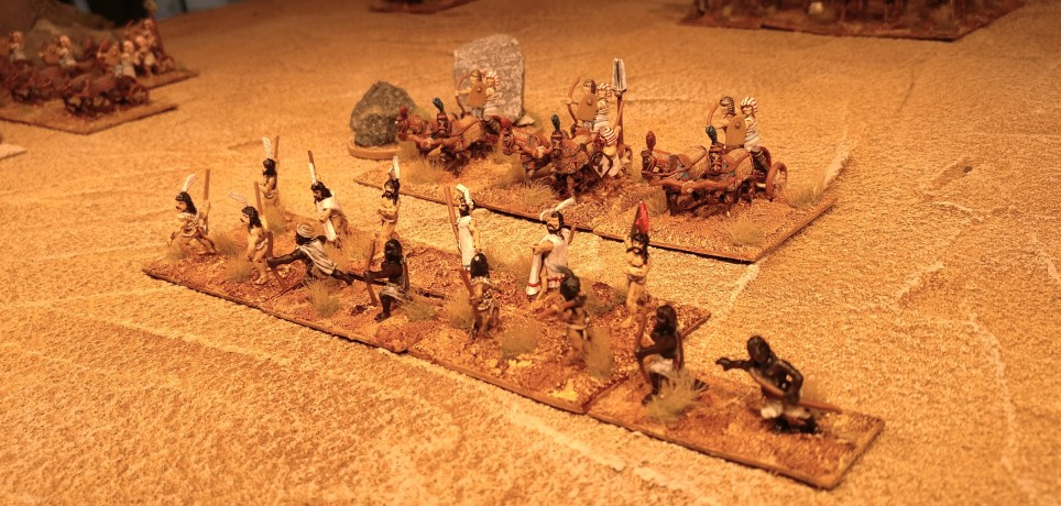 Unterbefehlshaber mit 2 Streitwagen und Kanaanitischen Hilfstruppen