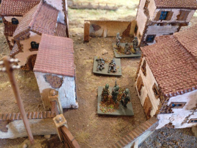 Lange Zeit unbeachtet war dieser Trupp im hinteren Teil des Klosters.