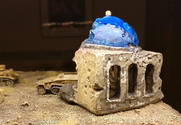 Mein Gebäude mit der blauen Kuppel.