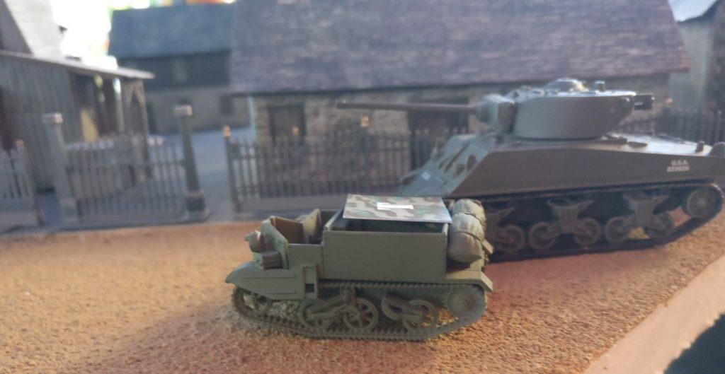 Ein zweiter Bren-Carrier im Tarnmodus.