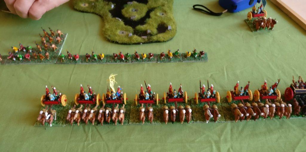 Und so hat Roman seine DBMM-Armee 1/32 Western Chou aufgebaut.