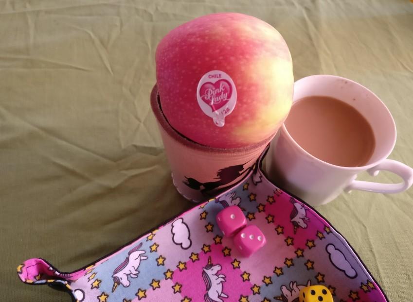 Eventuell hätte ich mehr von den Pink Lady Äpfeln futtern sollen.