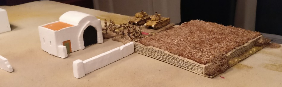 Die 8th Army  bereitet ihren Angriff vor. Die Ausgangspositionen des Grafen.