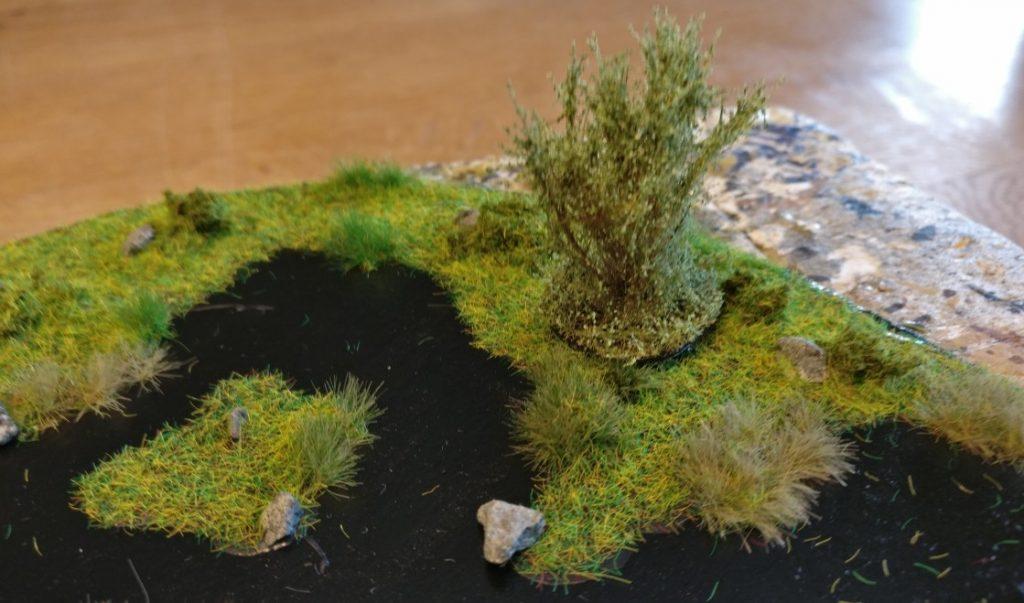 Der Busch live im Einsatz im Sumpf. Er ist hier nur aufgesetzt und kann jederzeit wieder entfernt werden.