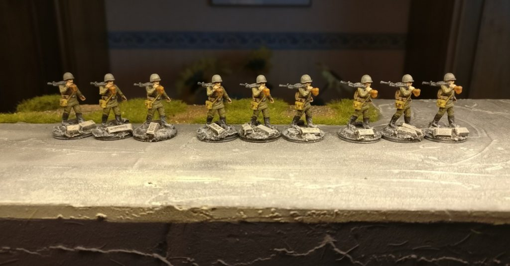 Neun LMG-Schützen für das 271. Schützenregiment der 10. NKWD Division