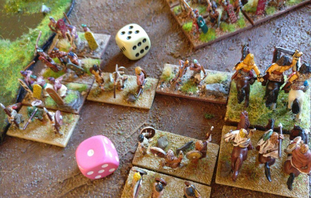 Im Nahkampf zeigten sich meine Ax(S) sehr versiert im Inderschlachten.