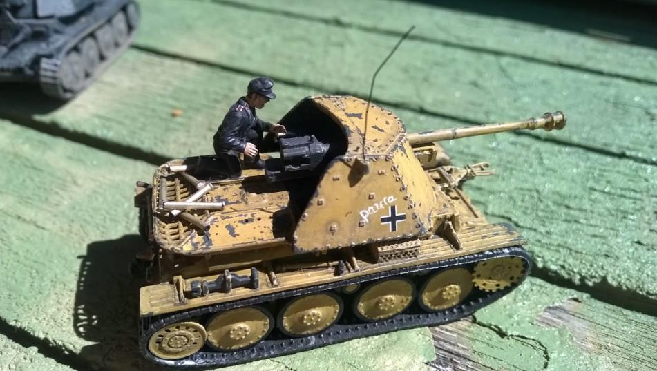 """Paula"": Marder III Ausf. H, Sd.Kfz. 138 mit 7,5-cm-PaK 40 in Dunkelgelb auf Doncolors Terrasse."
